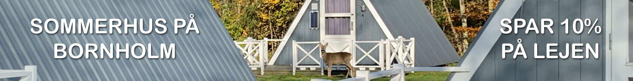 Billigt sommerhus på Bornholm - Spar 10% på lejen