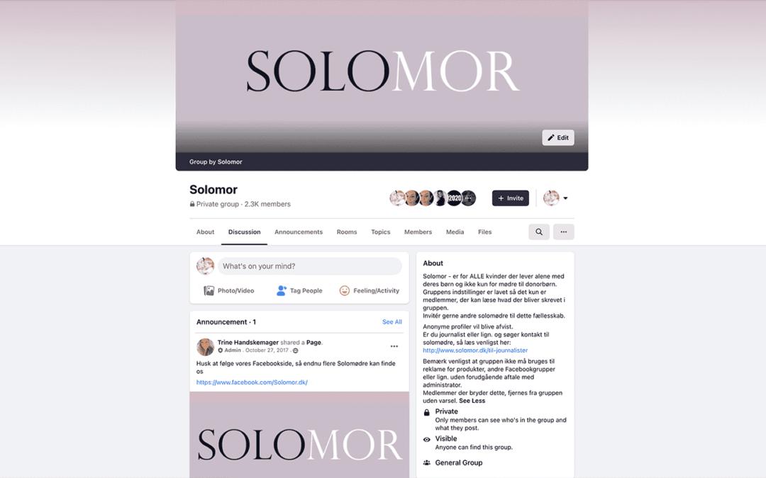 Ny netværksgruppe for Solomødre på Facebook